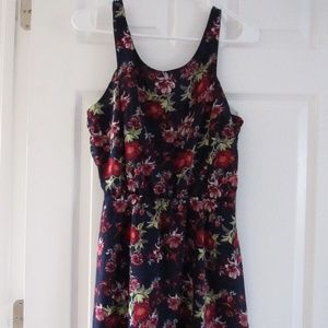 Short H&M Navy Dress with Flowers